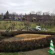 公園内の植栽工事がまもなく完了です。