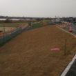河川敷の堤防張芝工事が完了しました。