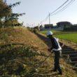 県道の除草作業です。